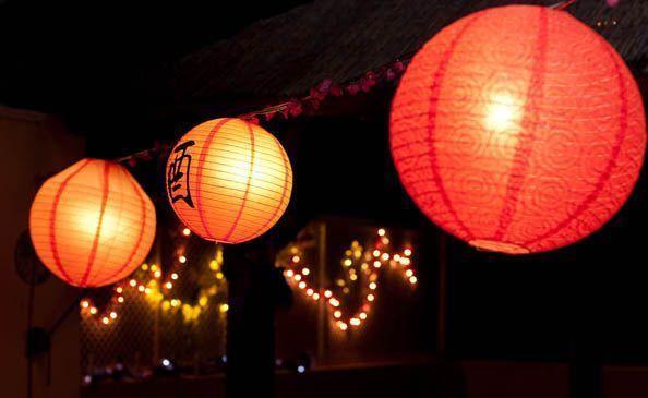 Luces decoración fiesta japonesa