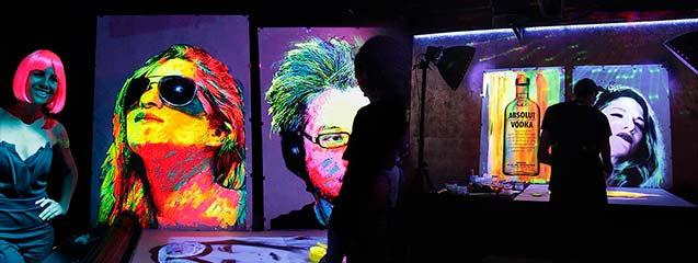 Fluor painting eventos Barcelona