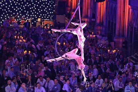 Danza aerea Eventos Barcelona