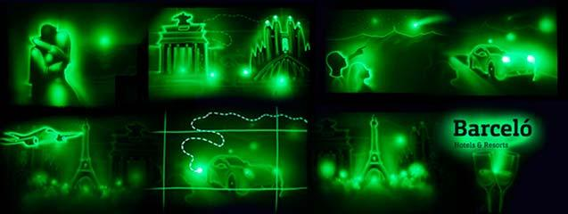 Show de Light Art en Praga
