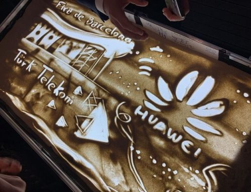 Personalised Sand Art show  for Huawei.