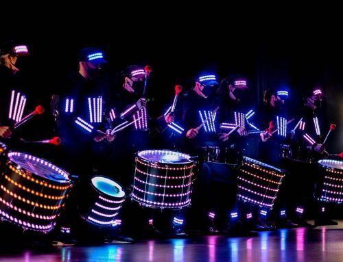 Stellar performance by our LED drummers at a corporate event